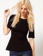 Czarna bluzka baskinka S