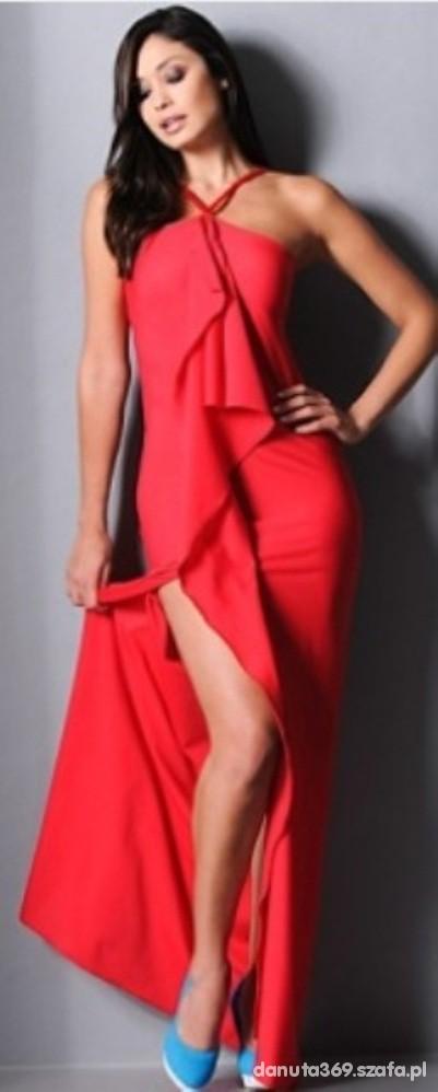 Suknie i sukienki nowa letnia wieczorowa sukienka maxi 36 38