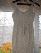 Sukienka zip koronka H&M