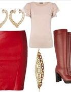 czerwona spódnica