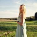 Miętowa suknia