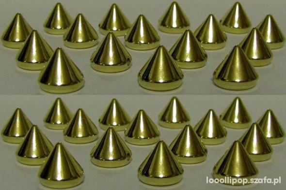 Pozostałe złote Ćwieki kolce spike przyszywane do przyszycia