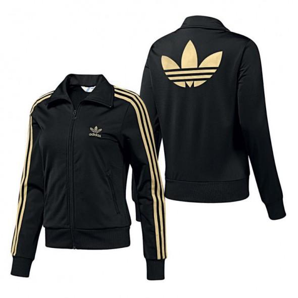 bluza adidas czarno złota męska