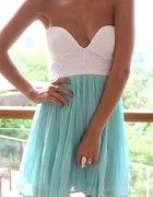Sukienka mint z gorsetem...
