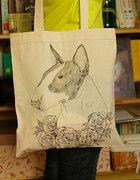 torba z bulterrierem DIY