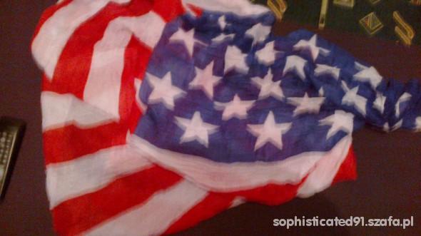 Chusty i apaszki flaga USA mega apaszka chusta ameryka