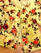 h&m 40 floral jak nowa bluzka kurteczka śliczna