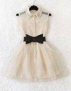 Piekna jasna sukienka