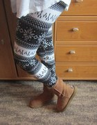 ocieplane norweskie legginsy wzory