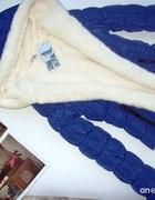 niebieska pikowana z kożuszkiem