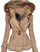 Pikowana zimowa kurtka cieply kaptur MIS roz S
