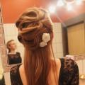 wieczorowa fryzura