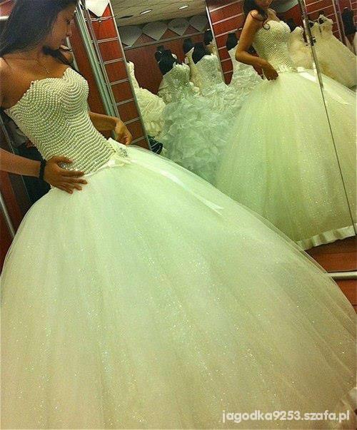 Na specjalne okazje suknia ślubna księżniczka