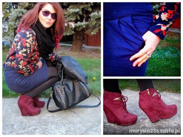 Mój styl jesienne liście i Marcelka fashion