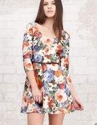 sukienka Stradivarius kwiaty