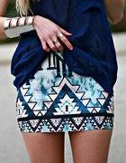 Aztec spódniczka niebiesko granatowa