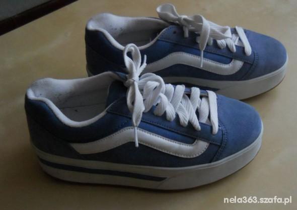 Vans vansy buty plat shoes platformy koturny w Sportowe