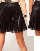 czarna plisowana szyfonowa spodniczka