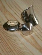HM zestaw pierścionków cuff ring