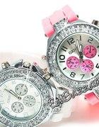 Zegarek jelly watch Japan Style GENEVA biały czarn
