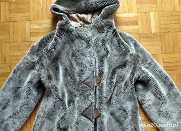 Miś sztuczne futerko M L brązowy płaszcz