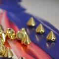 ĆWIEKI do przyszycia 100 sztuk srebrne i złote
