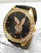 zegarek PLAYBOY czarny złota tarcza...