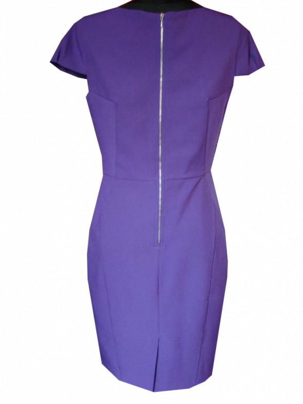 Suknie i sukienki Sukienka ołówek fiołek zip M L