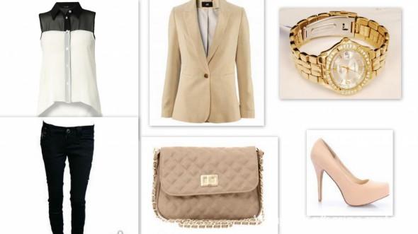 Eleganckie Bezowa Elegancja
