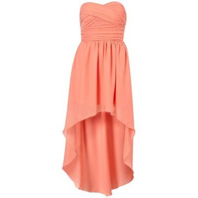 Suknie i sukienki TOPSHOP RARE NOWA KORALOWA SUKIENKA Z DLUZSZYM TY