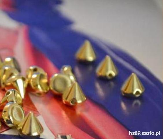 Pozostałe Ćwieki do przyszycia 100 sztuk srebrne złote