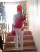 czerwono bialy tani i prosty mój klasyk ubrania