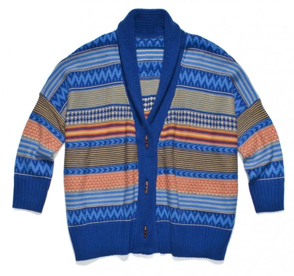 Sweter etniczny indiański etno kolorowy aztec w Swetry