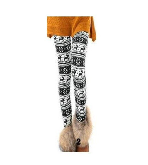 Legginsy nowe legginsy norweskie wzory biało czarne 15 zł