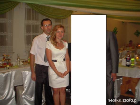 d81a3f8eb3 Extra biała sukienka na wesele w Suknie i sukienki - Szafa.pl