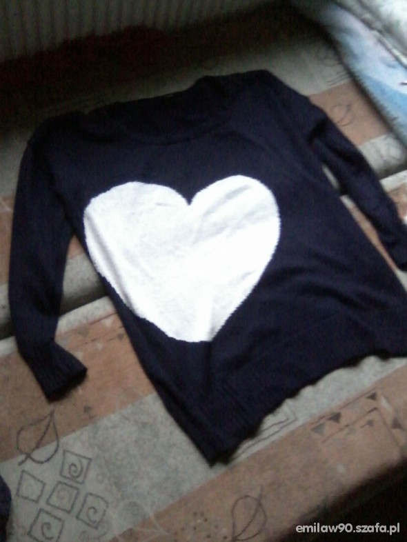 mega sweter serce Dorothy Perkins
