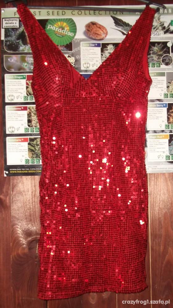 e7fdf9d5 Super czerwona sukienka SYLWESTER w Suknie i sukienki - Szafa.pl