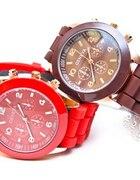 Piękny NOWY Czerwony Zegarek Geneva NAJTANIEJ