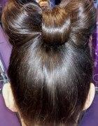 fryzura kokardka