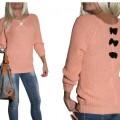 nowy sweter z kokardkami na plecach miętowy 37zł