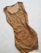 sylwester nowa sukienka koronka złoto