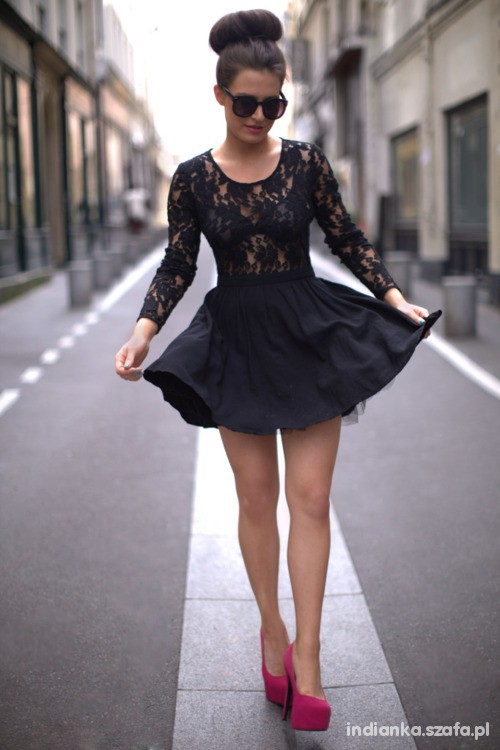 Imprezowe skater dress I LOVE IT