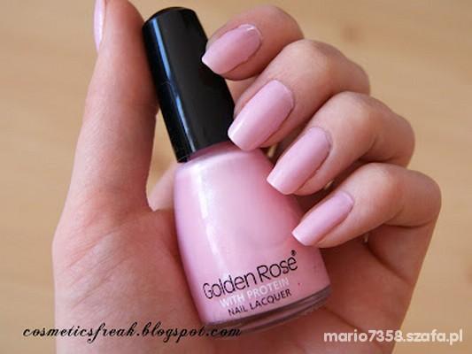 Lakier Golden Rose 246 Pink Pudrowy Róż Drobinki W Paznokcie Szafapl