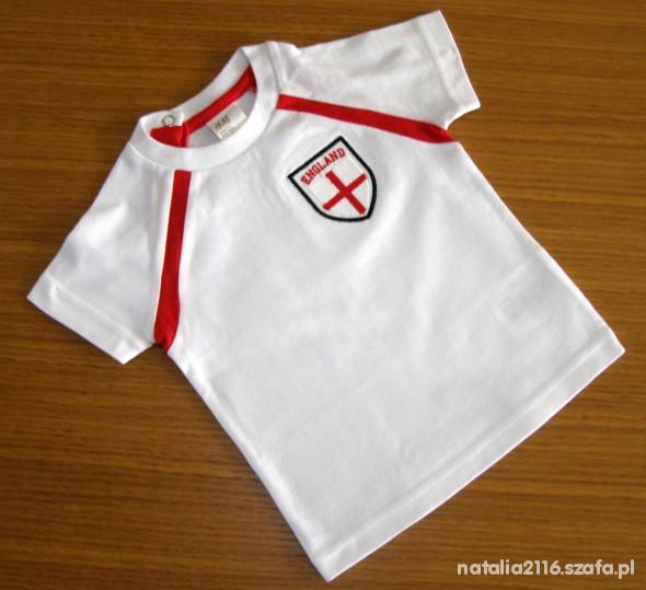 Koszulki, podkoszulki H&M KOSZULKA 4 6 M ENGLAND