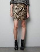 czarno złota spódnica