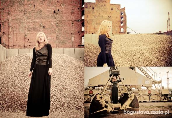 Eleganckie black dress by Marita Bobko