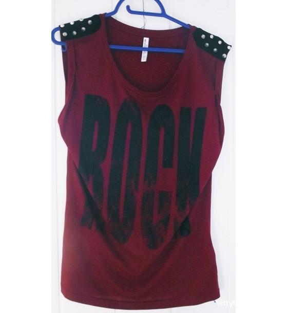 New yorker czerwony tshirt ROCK