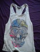 TOPSHOP koszulka z czaszką