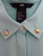koszula bluzka miętowa H&M ćwieki...