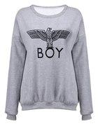 szara bluza oversize boy london romwe